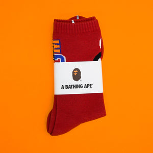 "A Bathing Ape "" Shark Socks"" Red"