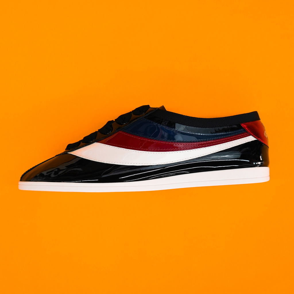 "Gucci Falacer Bee Sneaker "" Patent Leather """