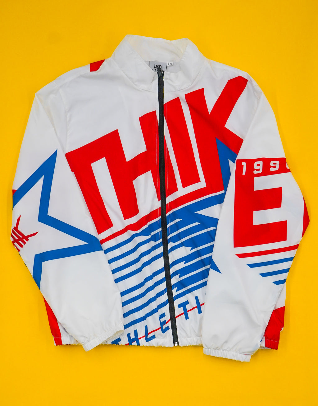 Athletic Retro Windbreaker (White)