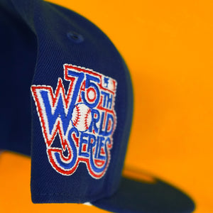 New Era Los Angeles Dodgers World Series Patch Fitted Purple UV
