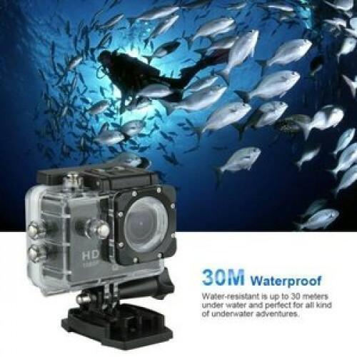 ULTRA HD ACTION CAMERA WITH 130 DEGREE WIDE ANGLE