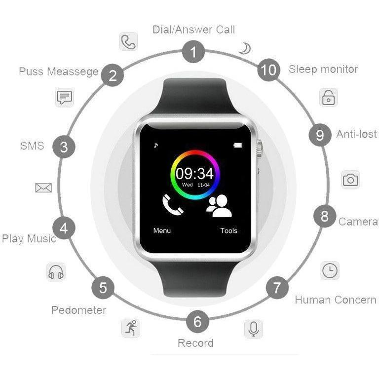 A1 Bluetooth Smart Watch with Calling Feature