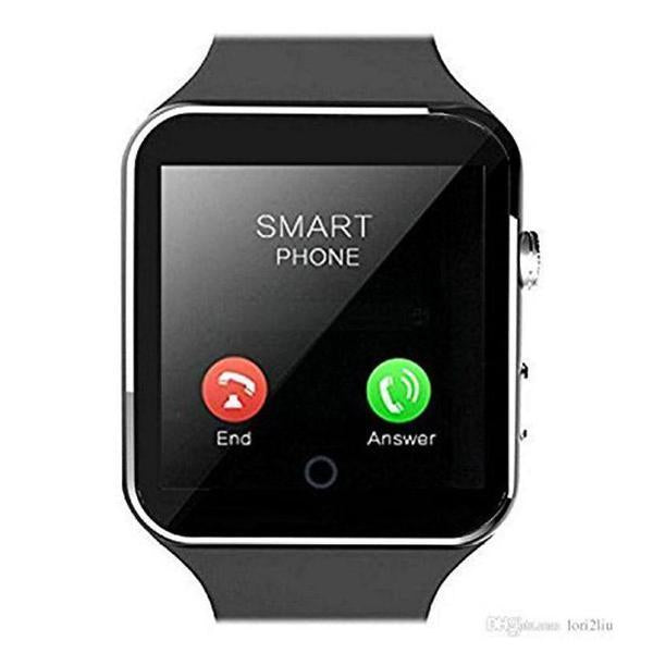 X6 Hidden Camera Bluetooth Smart Watch Sim Support with Memory Card slot