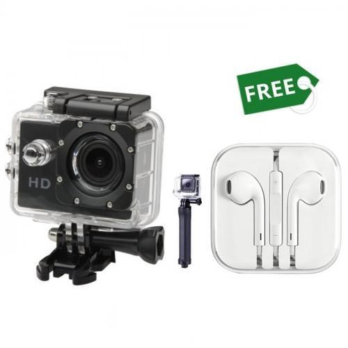 XING HD ACTION CAMERA  FREE EARPODS WITH REMOTE AND MIC