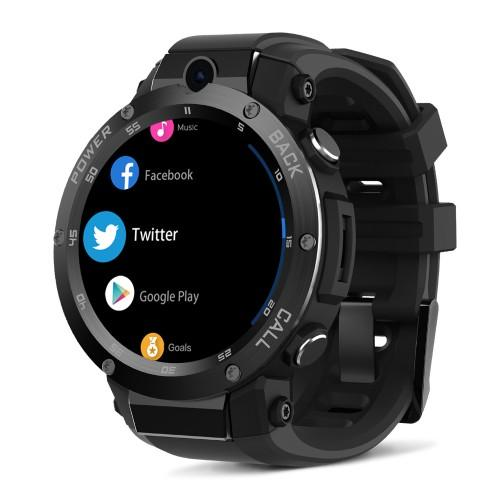THOR 5 PRO Ceramic Bezel 3GB+32GB Dual Camera Face Unlock Smart Watch