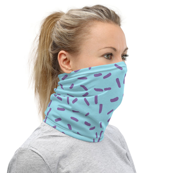 Purple/Blue Geo Design Neck Gaiter