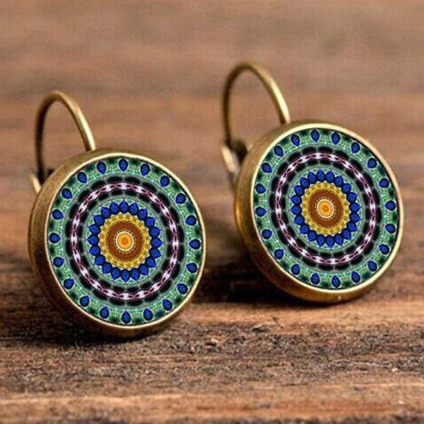 Mandala Amulet Earrings
