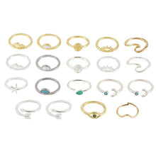 Load image into Gallery viewer, 19 Pc Set Boho Women Rings Set