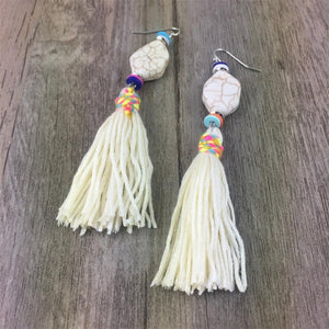 Bohemia Stone Tassel Earrings