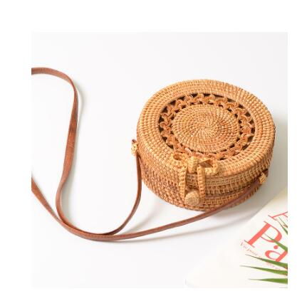 Hand Woven Rattan Round Bags