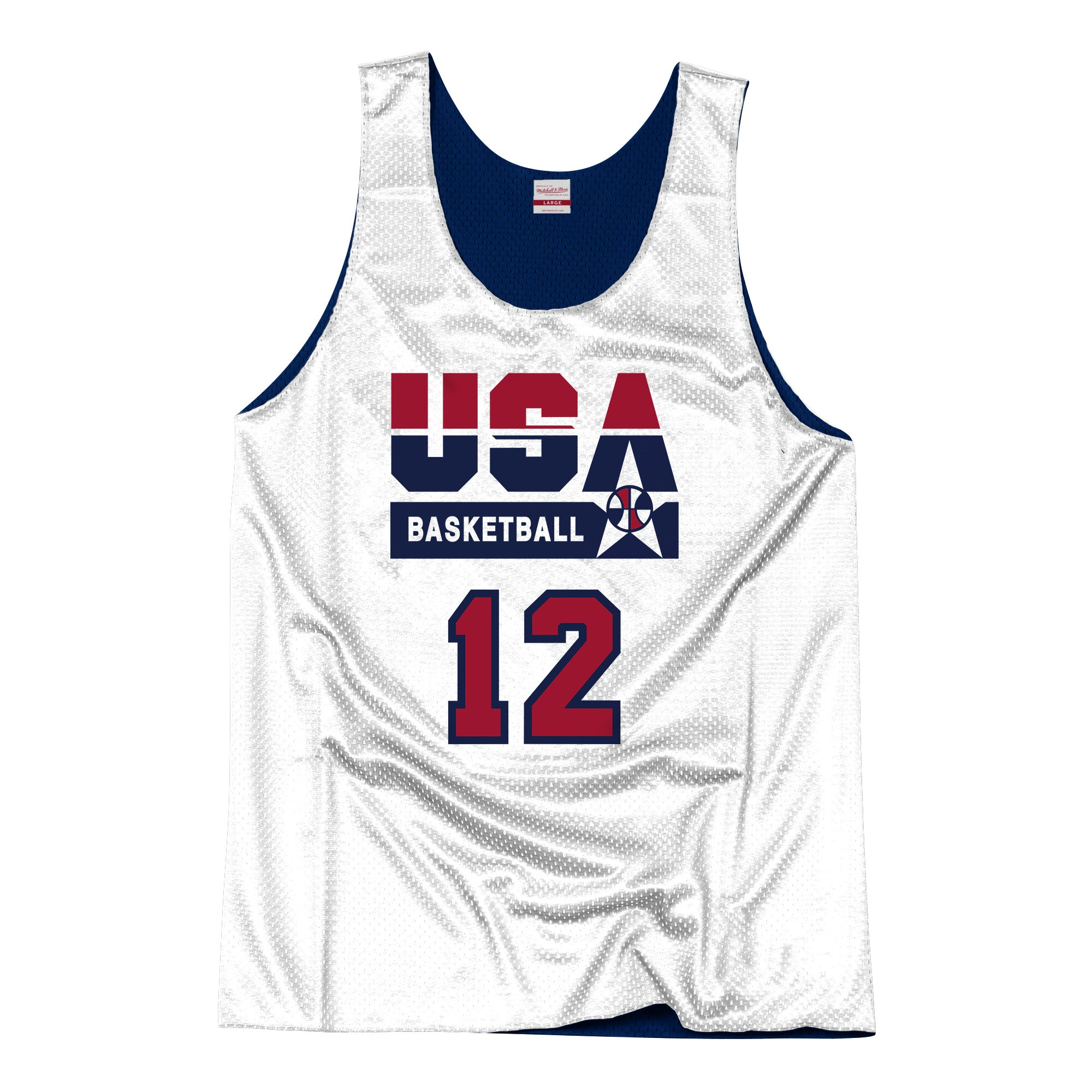 Mitchell & Ness USA '92 Basketball John Stockton Reversible Jersey