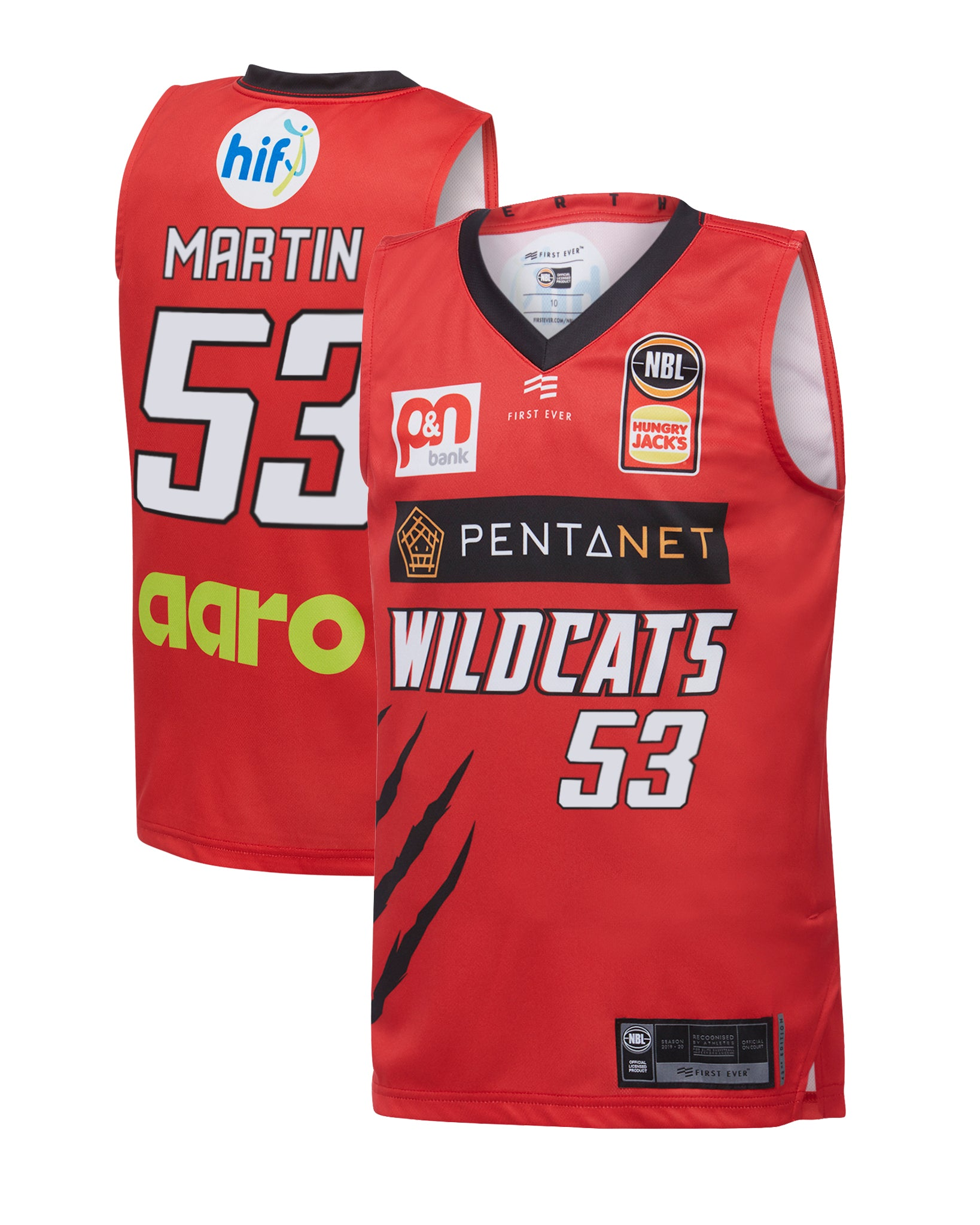 Perth Wildcats 19/20 Youth Authentic Home Jersey - Damian Martin