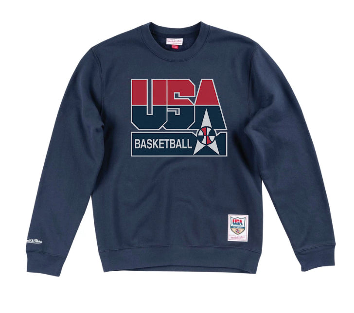 Mitchell & Ness USA '92 Basketball Logo Crew - Navy