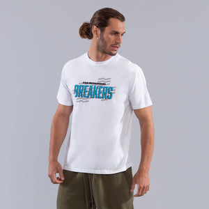New Zealand Breakers Pattern Wordmark Tee