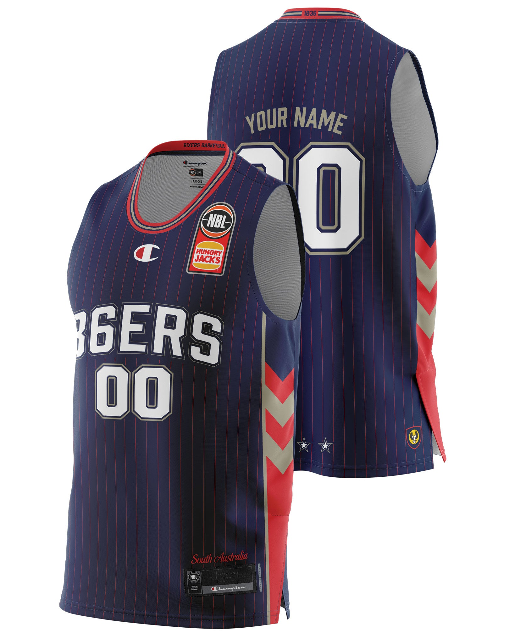 Adelaide 36ers 20/21 Authentic Home Jersey - Personalised