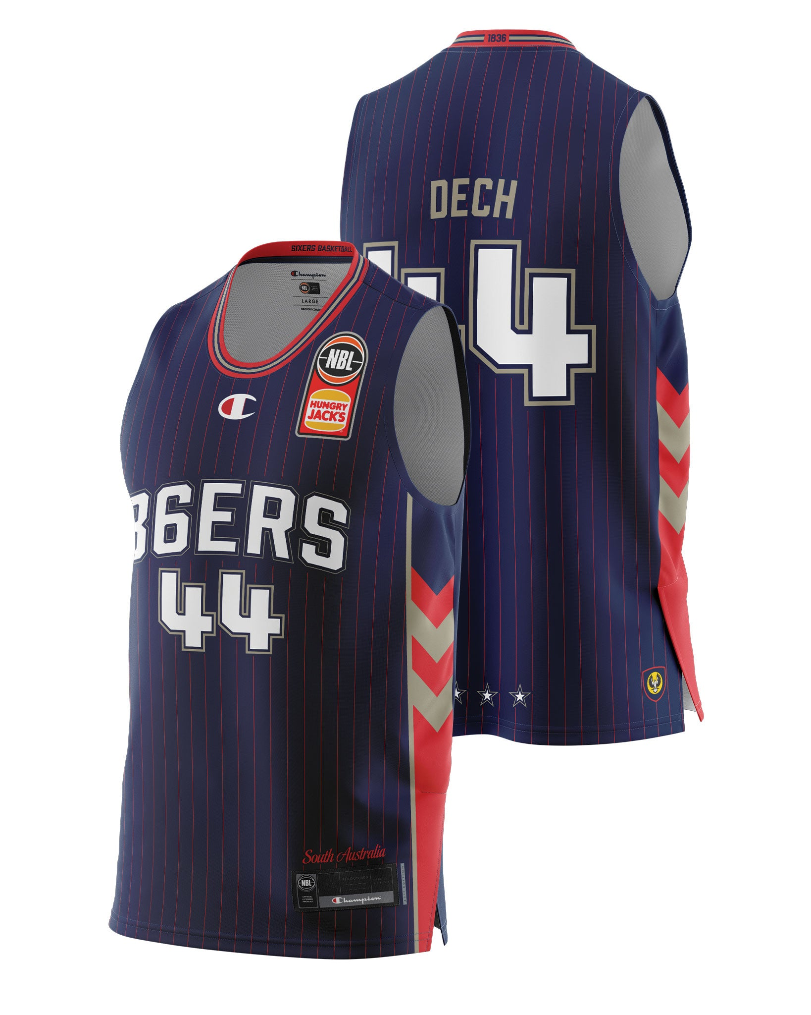 Adelaide 36ers 20/21 Authentic Home Jersey - Sunday Dech