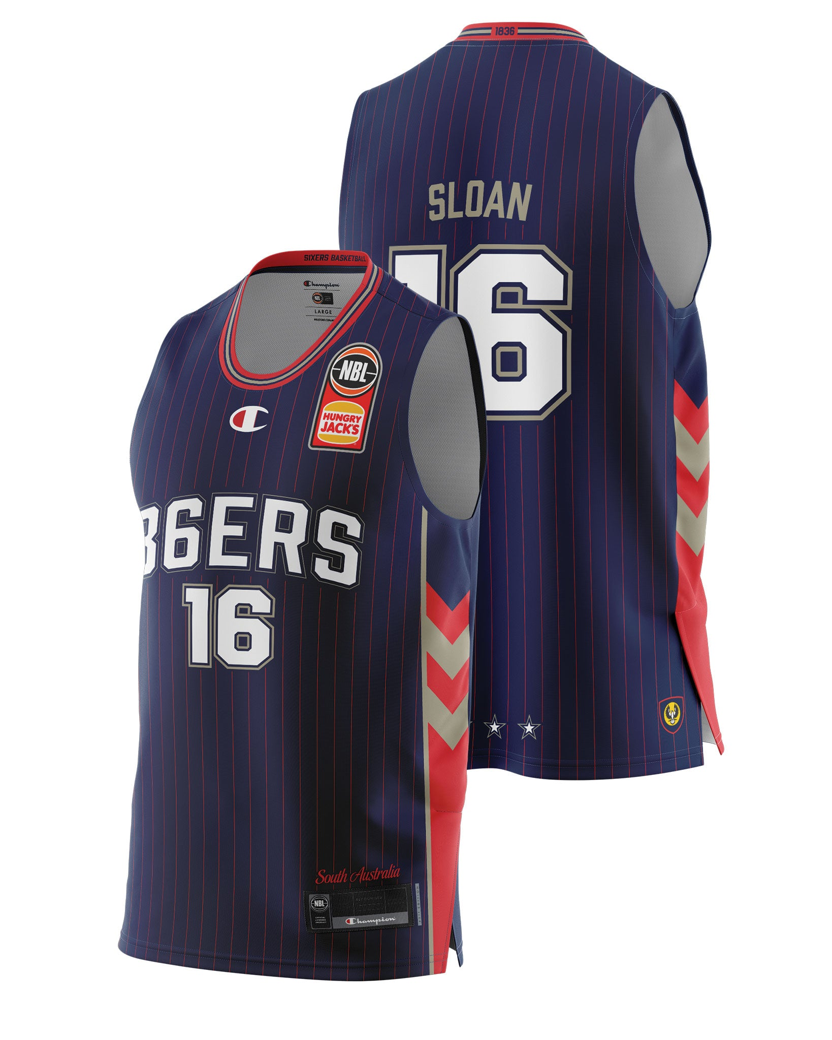 Adelaide 36ers 20/21 Authentic Home Jersey - Donald Sloan