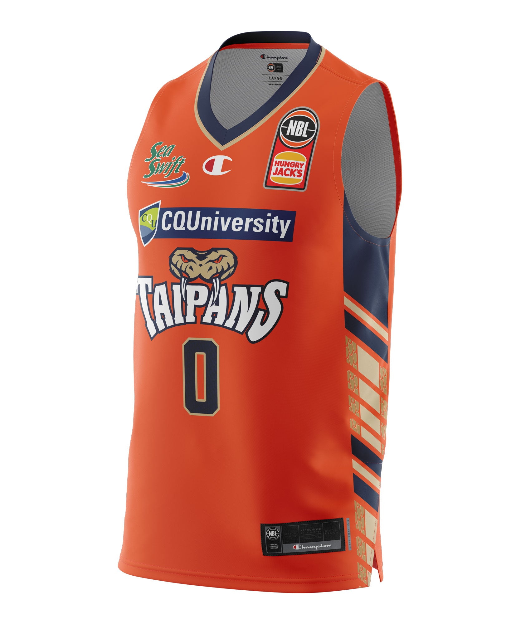 Cairns Taipans 20/21 Authentic Home Jersey - Cam Oliver