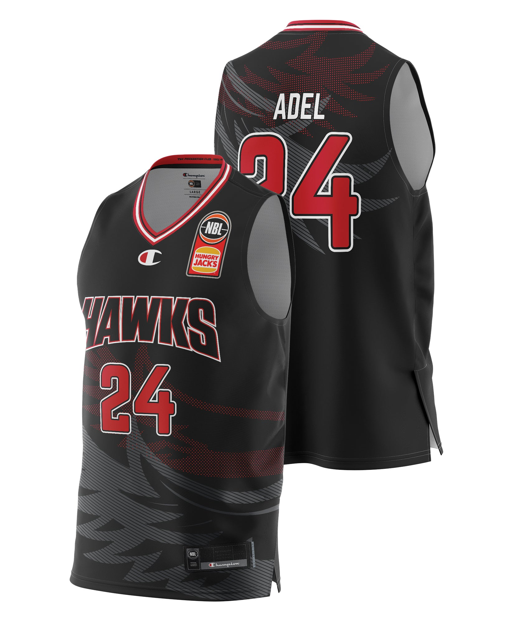 Hawks 20/21 Authentic Home Jersey - Deng Adel