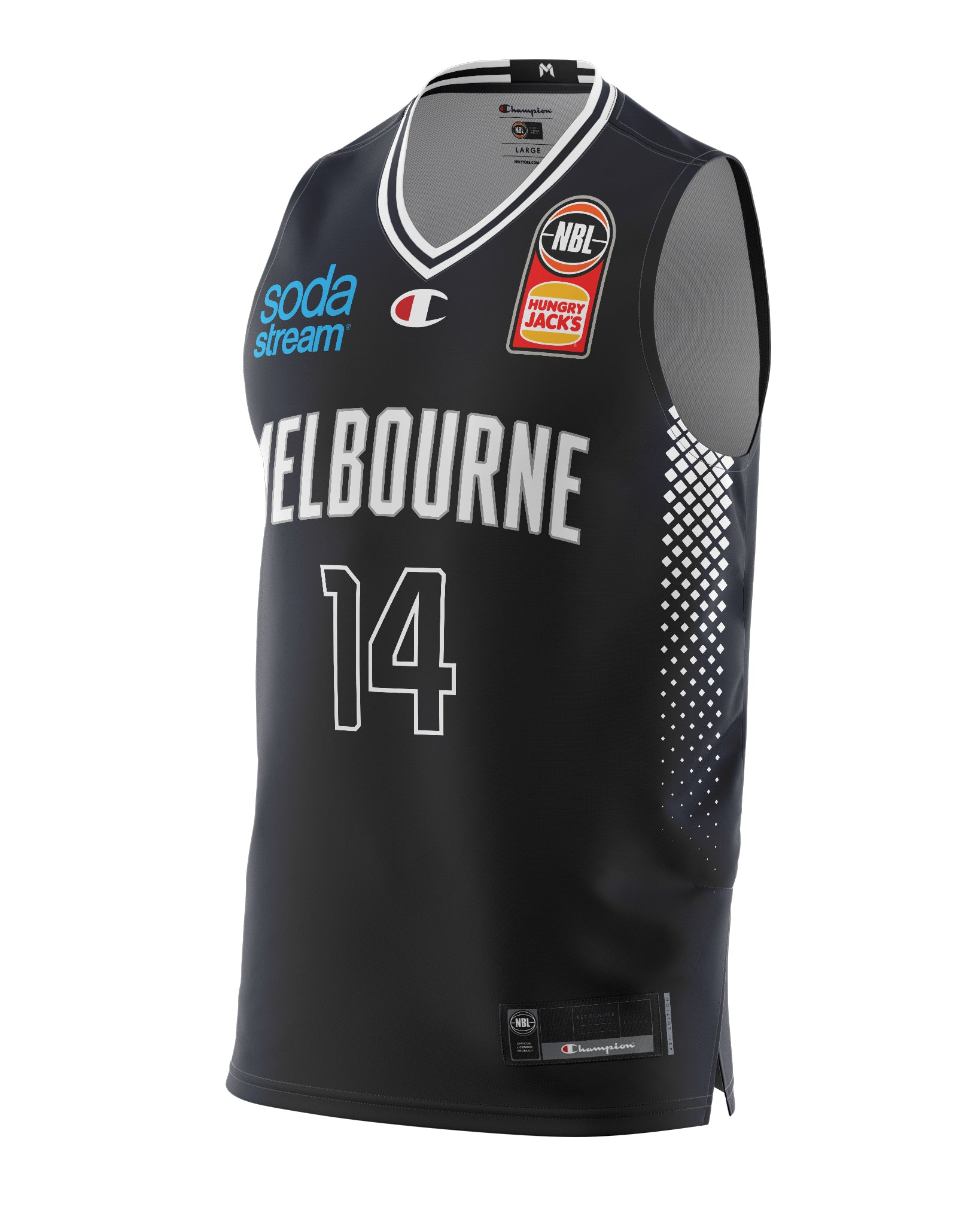 Melbourne United 20/21 Authentic Home Jersey - Jack White