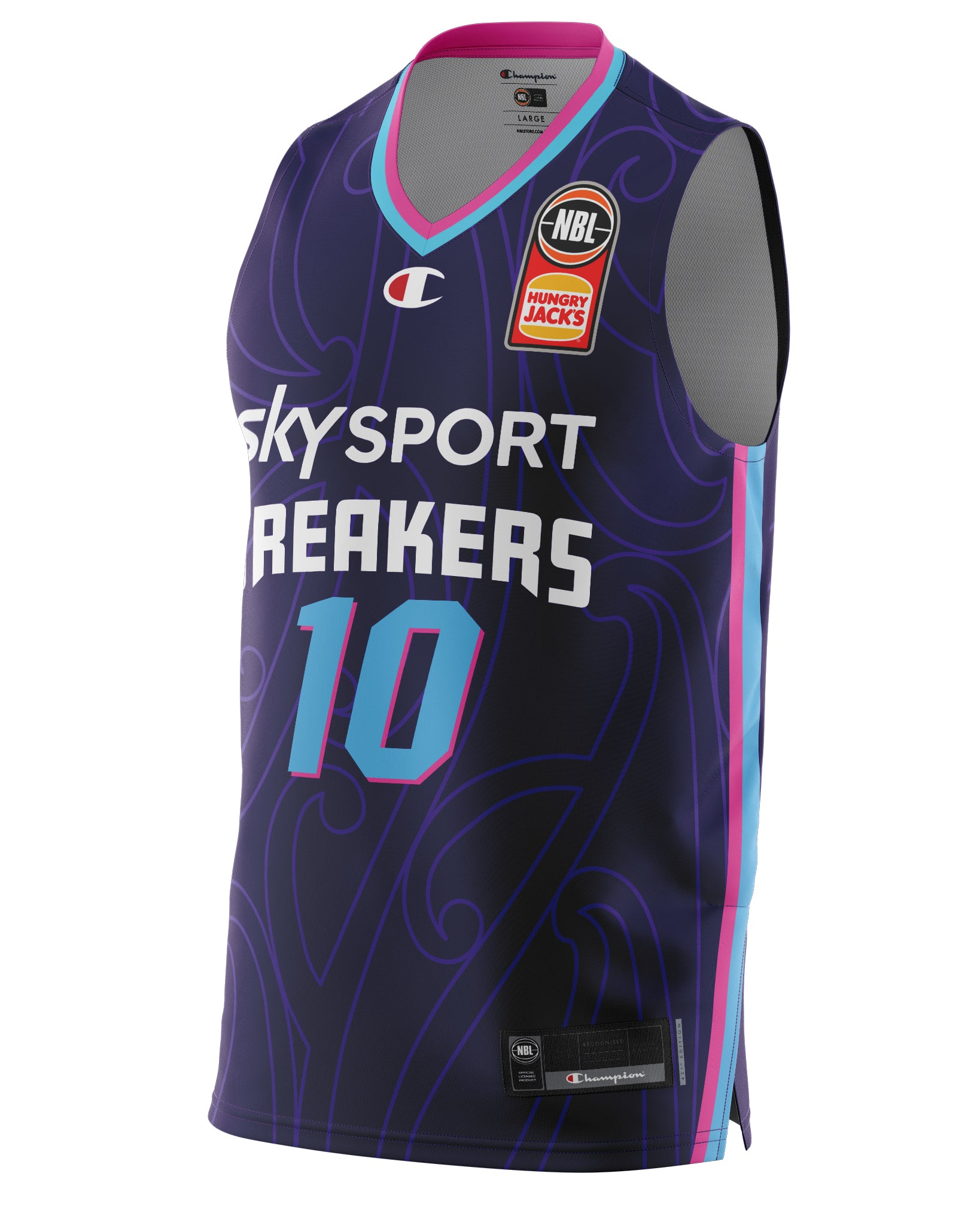 New Zealand Breakers 20/21 Authentic Home Jersey - Tom Abercrombie