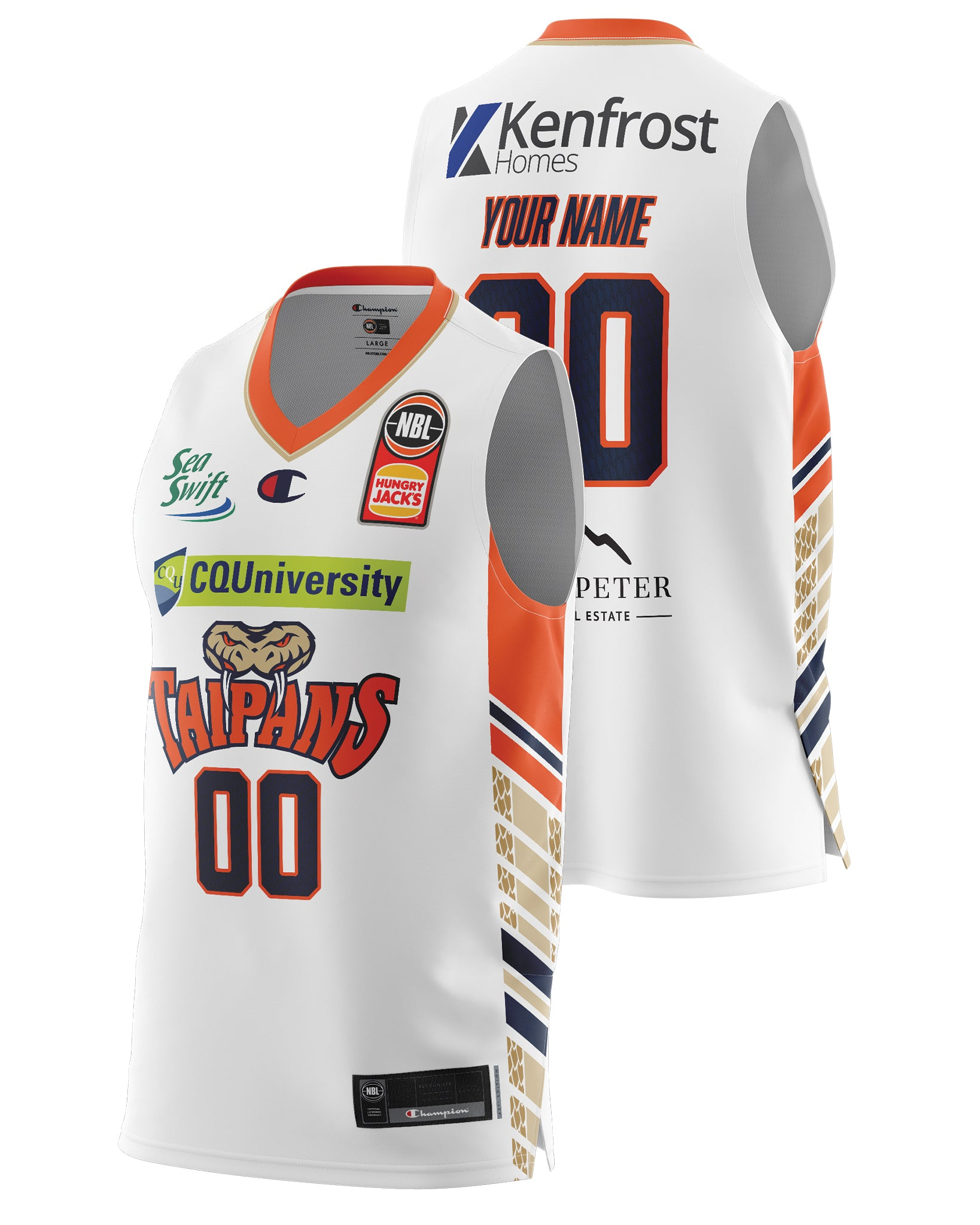 Cairns Taipans 20/21 Authentic Away Jersey - Personalised