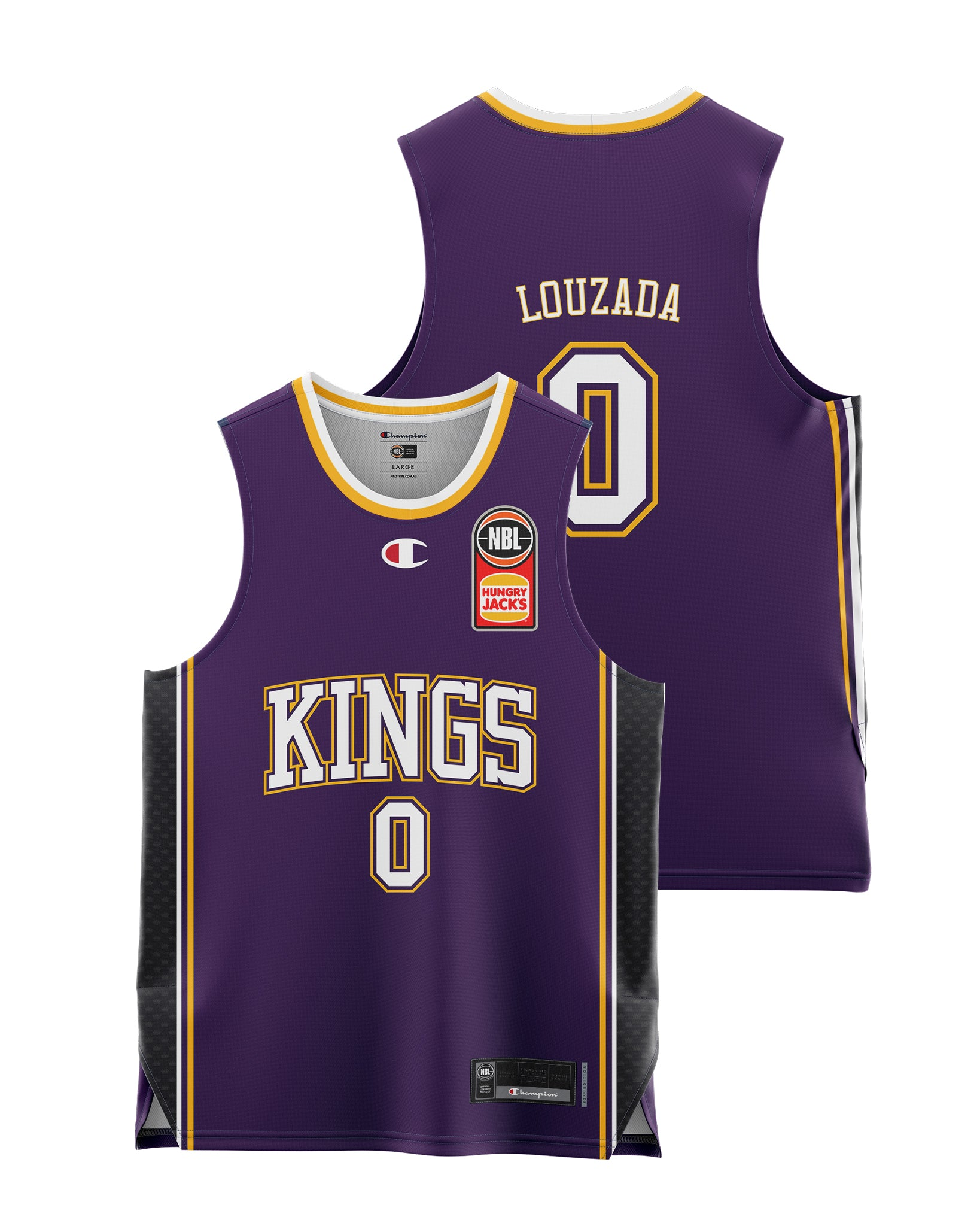 Sydney Kings 20/21 Youth Authentic Home Jersey - Didi Louzada