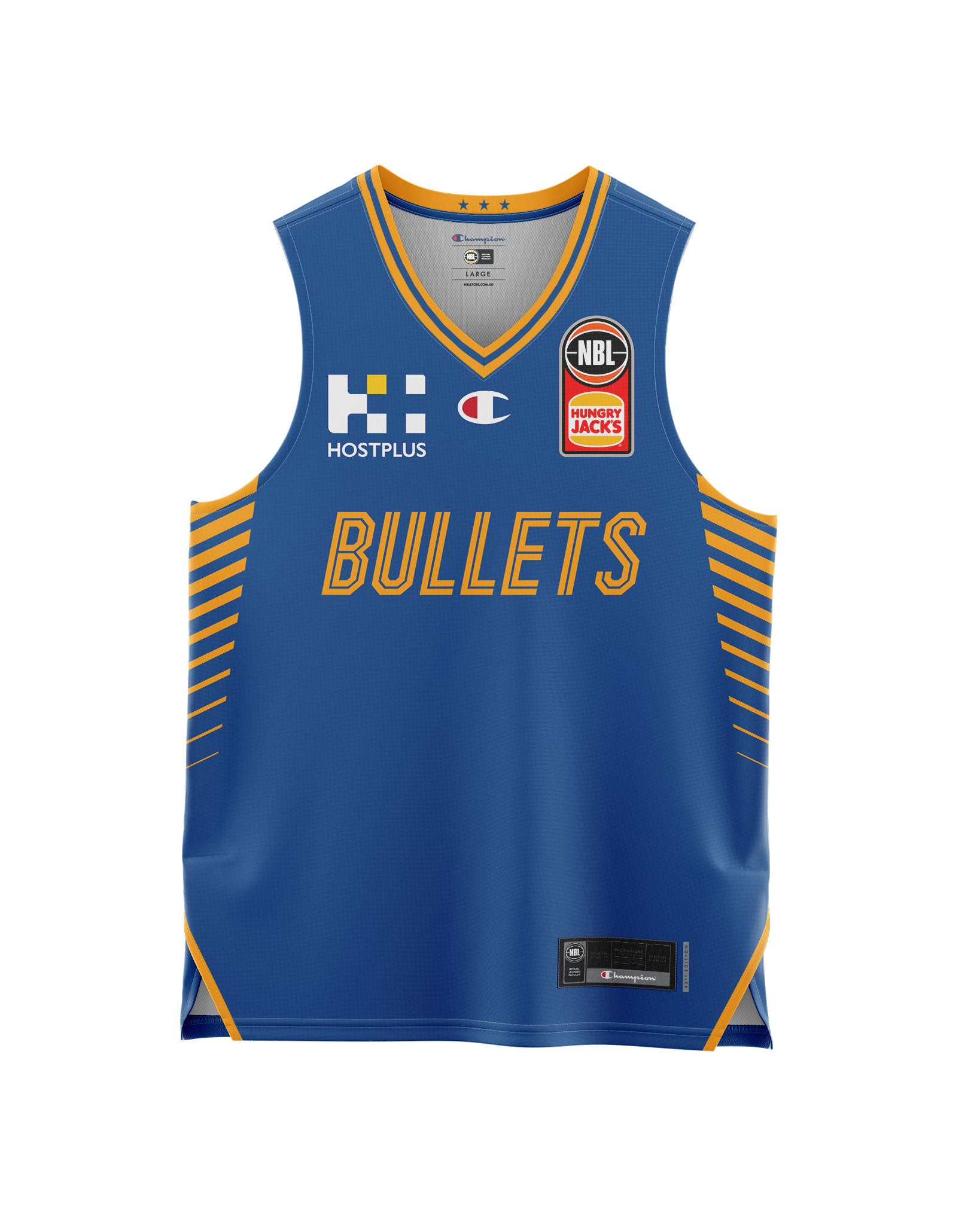 Brisbane Bullets 20/21 Youth Authentic Home Jersey