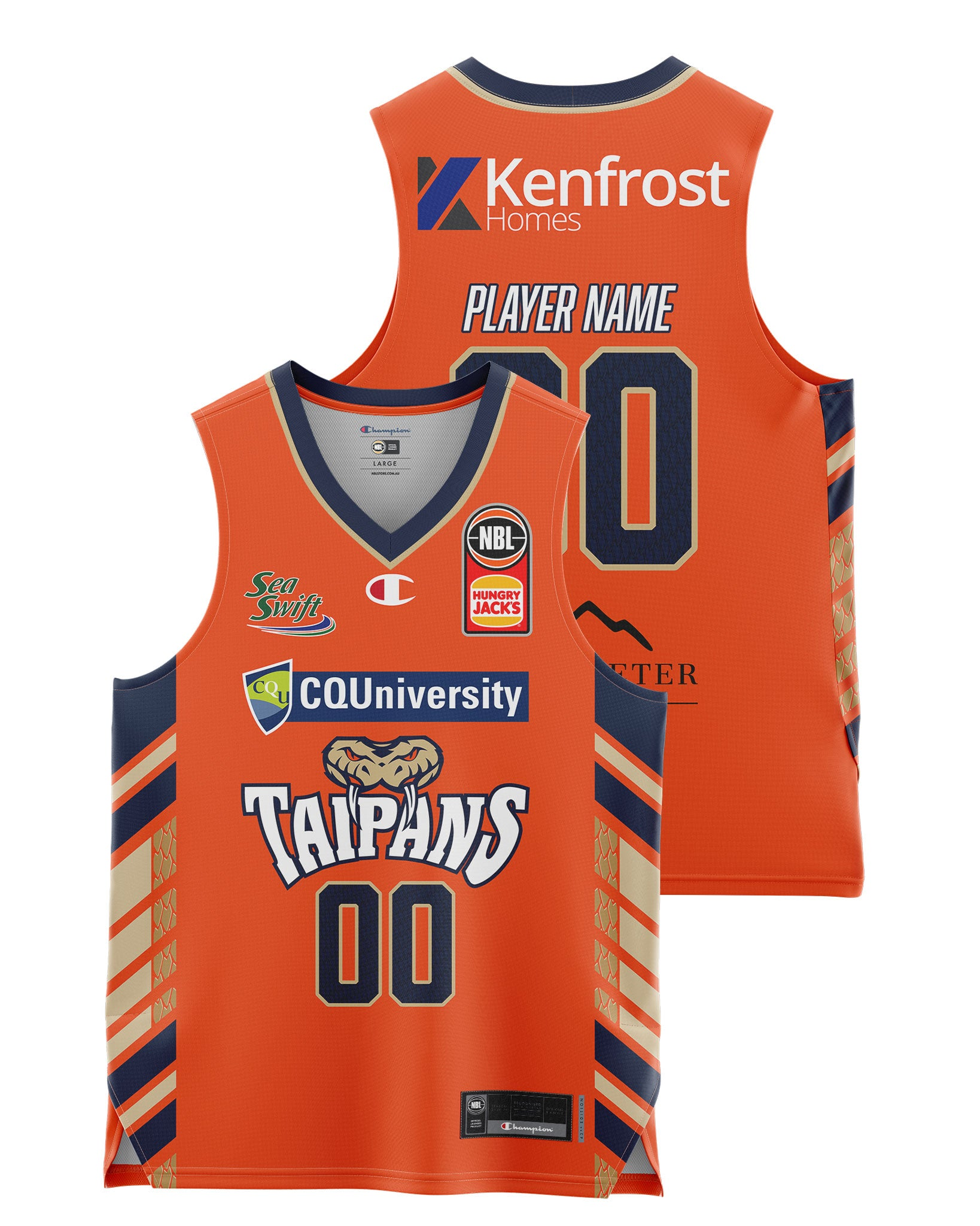 Cairns Taipans 20/21 Youth Authentic Home Jersey - Other Players