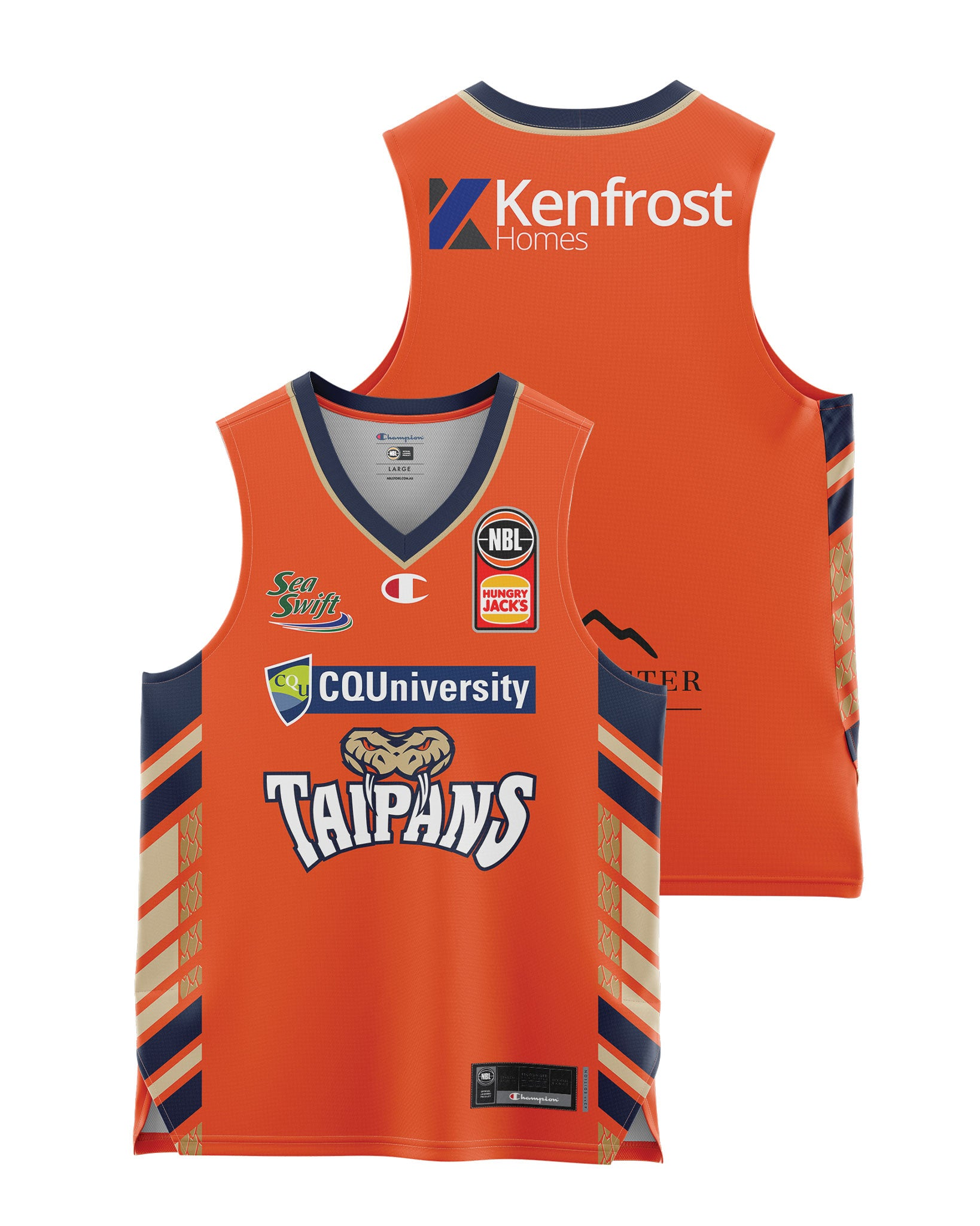 Cairns Taipans 20/21 Youth Authentic Home Jersey