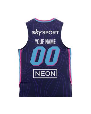 New Zealand Breakers 20/21 Youth Authentic Home Jersey - Personalised