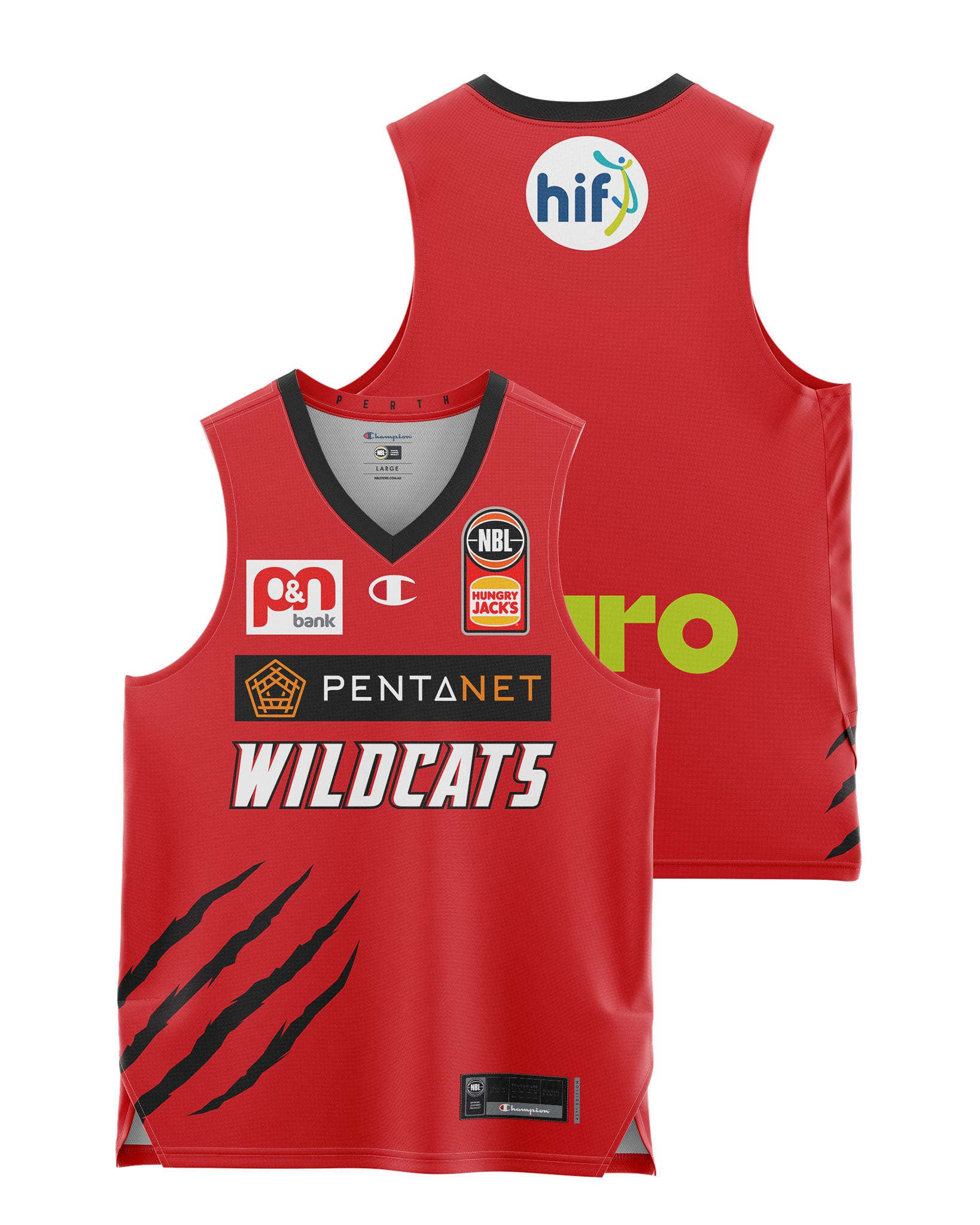 Perth Wildcats 20/21 Youth Authentic Home Jersey