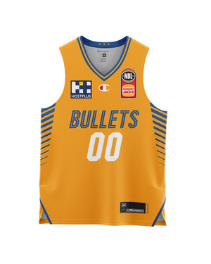 Brisbane Bullets 20/21 Youth Authentic Away Jersey - Personalised