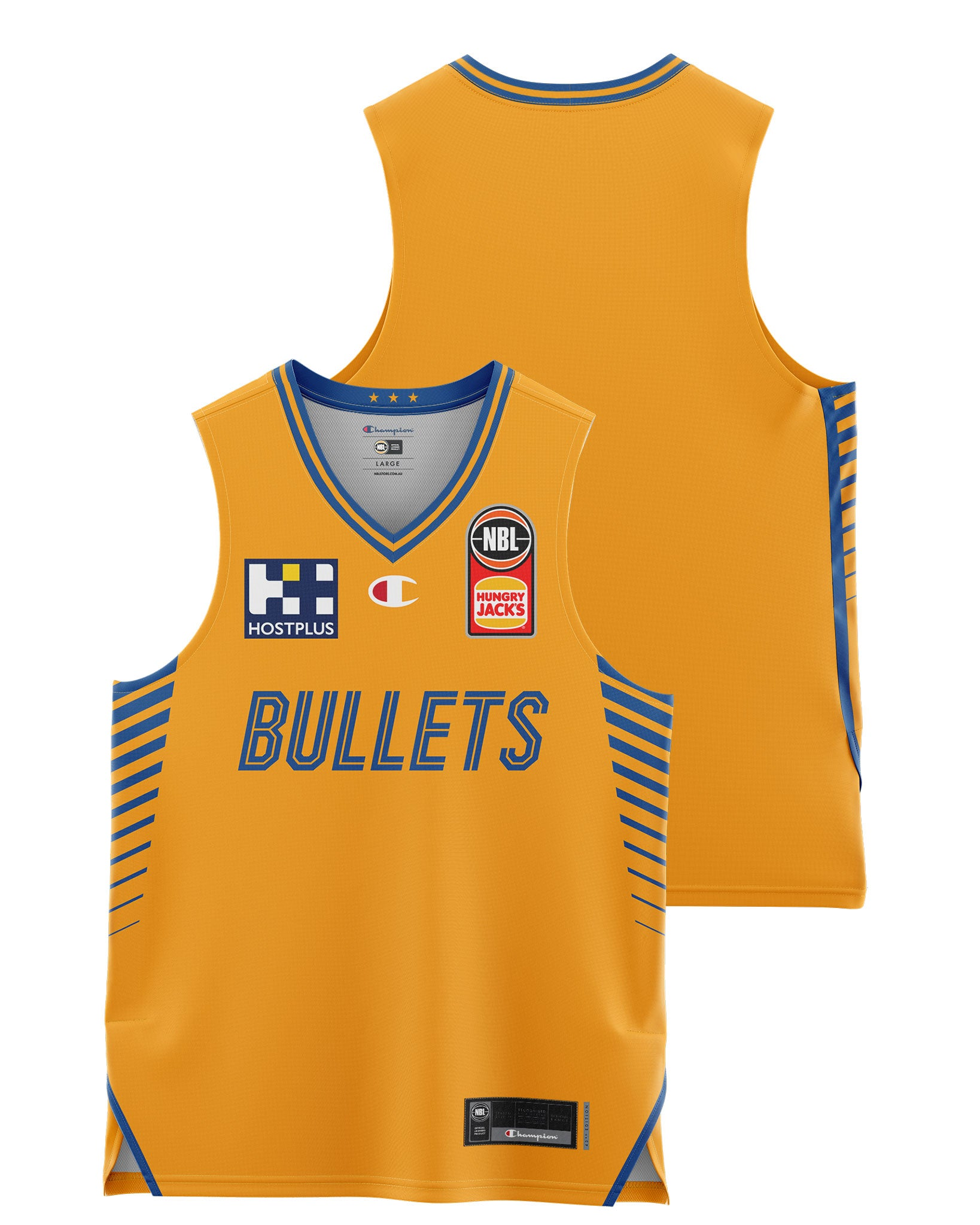 Brisbane Bullets 20/21 Youth Authentic Away Jersey