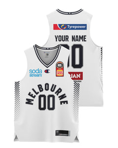 Melbourne United 20/21 Youth Authentic Away Jersey - Personalised