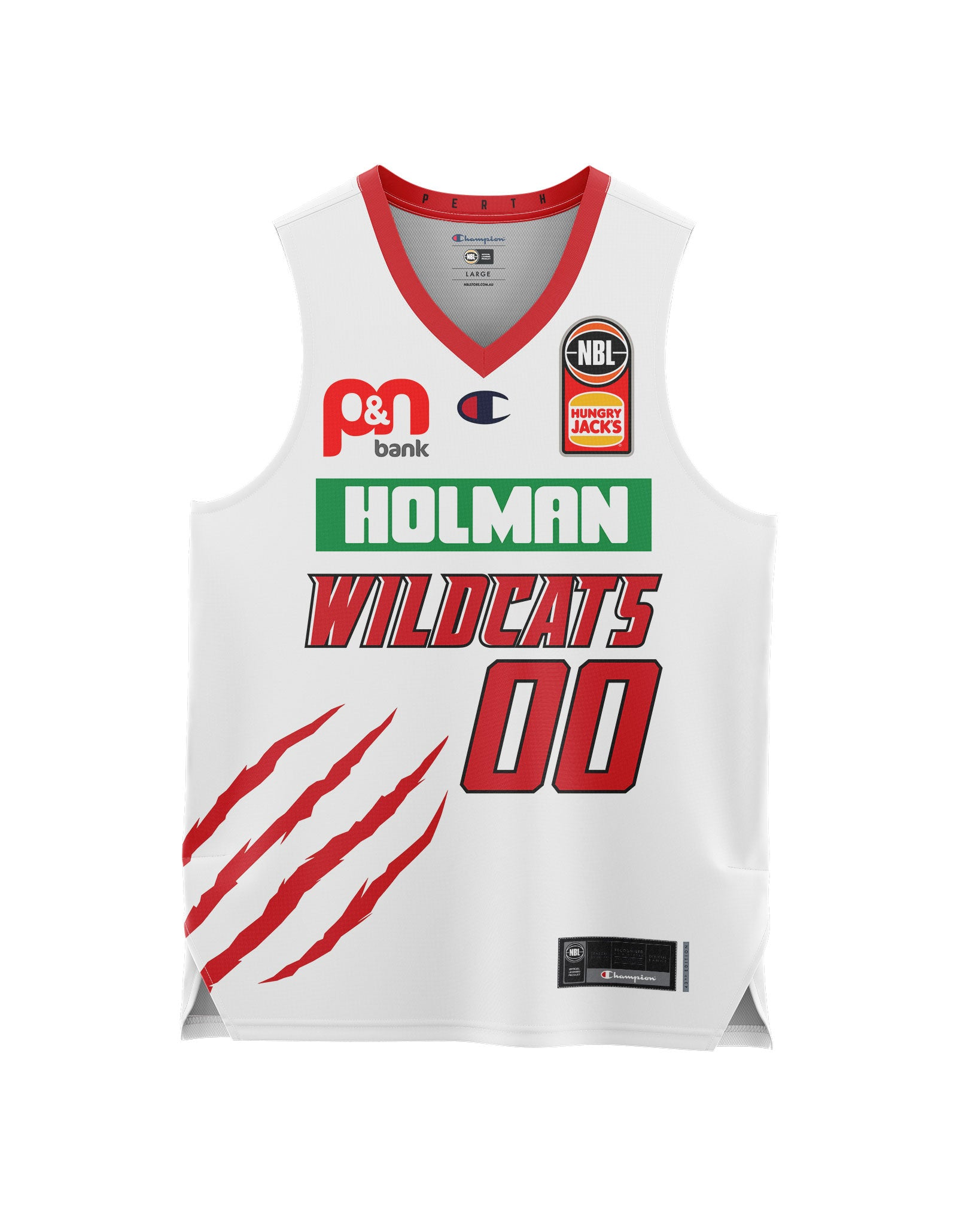 Perth Wildcats 20/21 Youth Authentic Away Jersey - Personalised