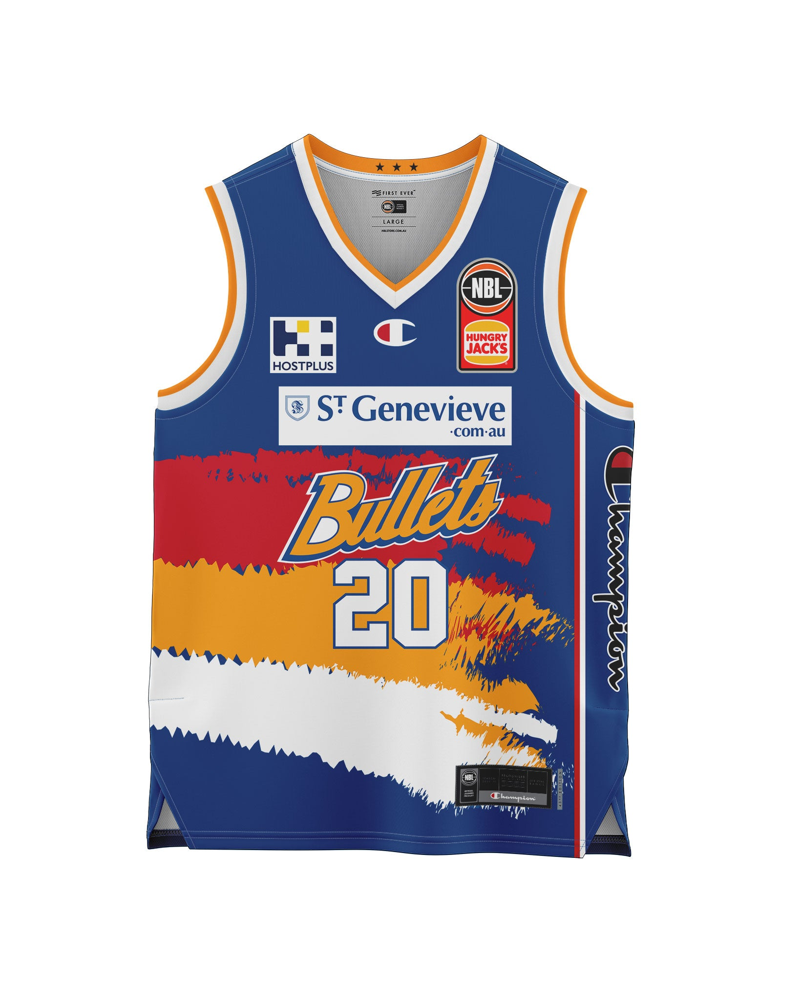 Brisbane Bullets 20/21 Youth Authentic Heritage Jersey - Nathan Sobey