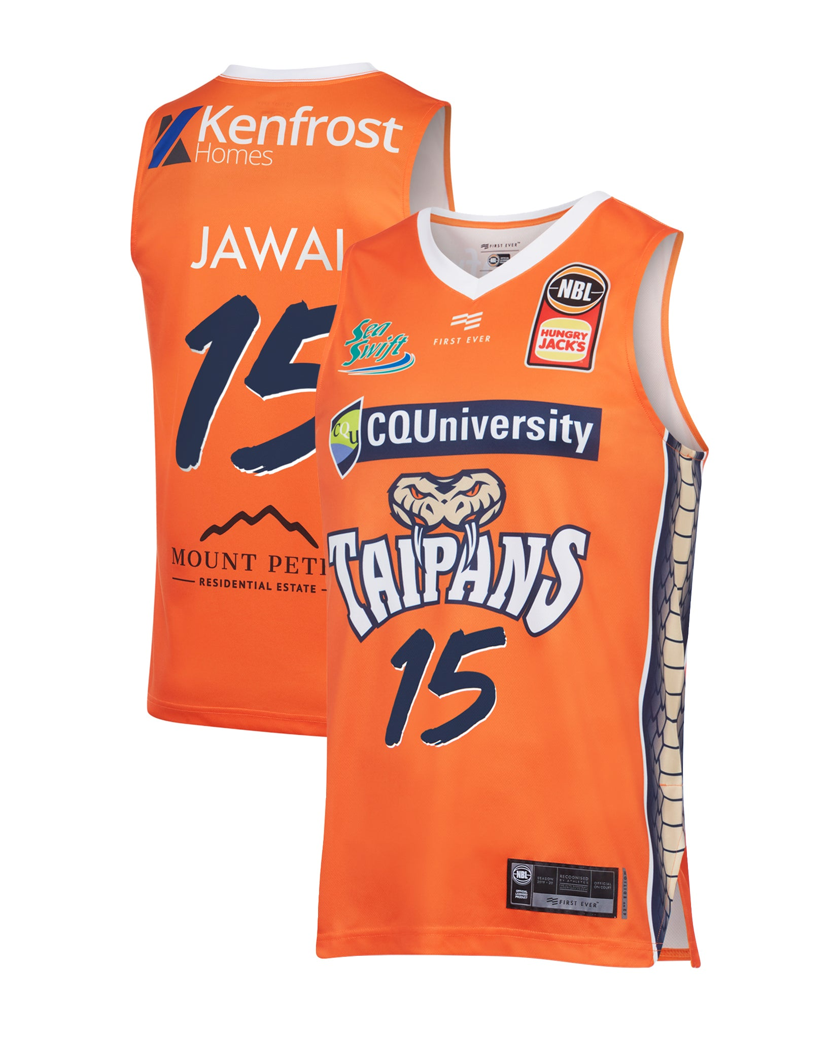 cairns-taipans-19-20-authentic-home-jersey-nate-jawai - Front and Back Image