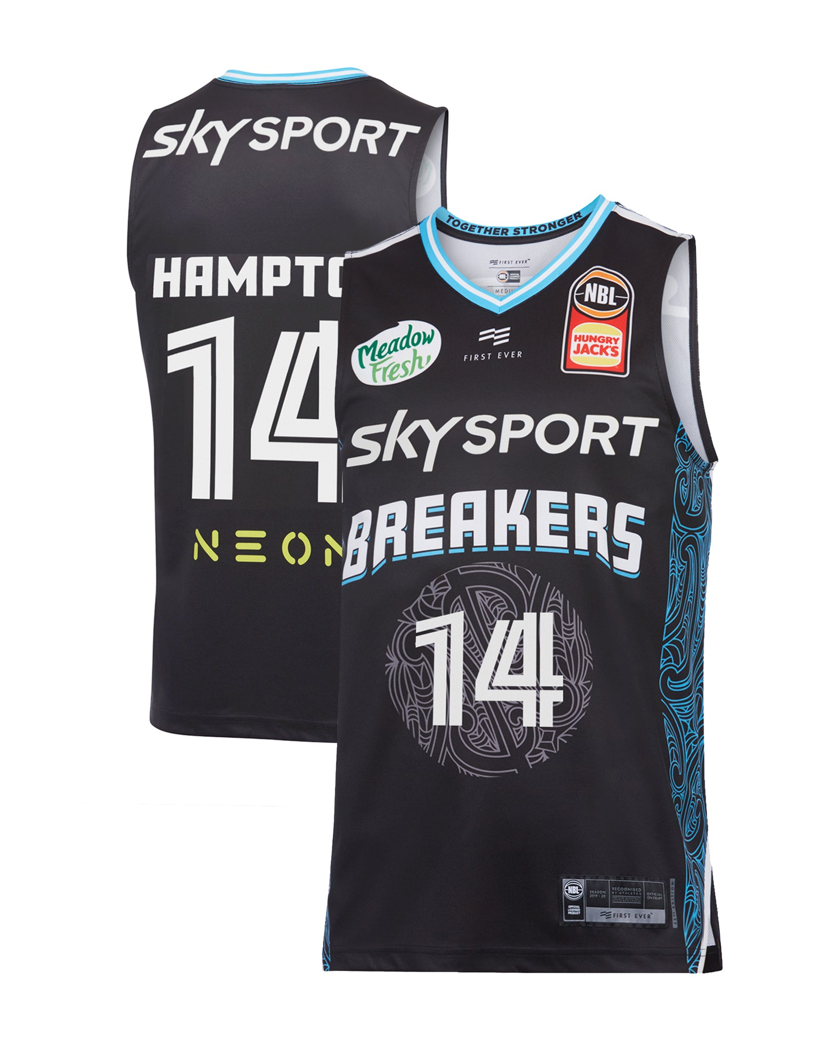 new-zealand-breakers-19-20-authentic-home-jersey-rj-hampton - Front and Back Image