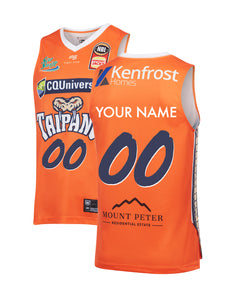 Personalised Cairns Taipans 19/20 Authentic Home Jersey