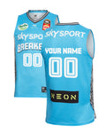 Personalised New Zealand Breakers 19/20 Authentic Away Jersey