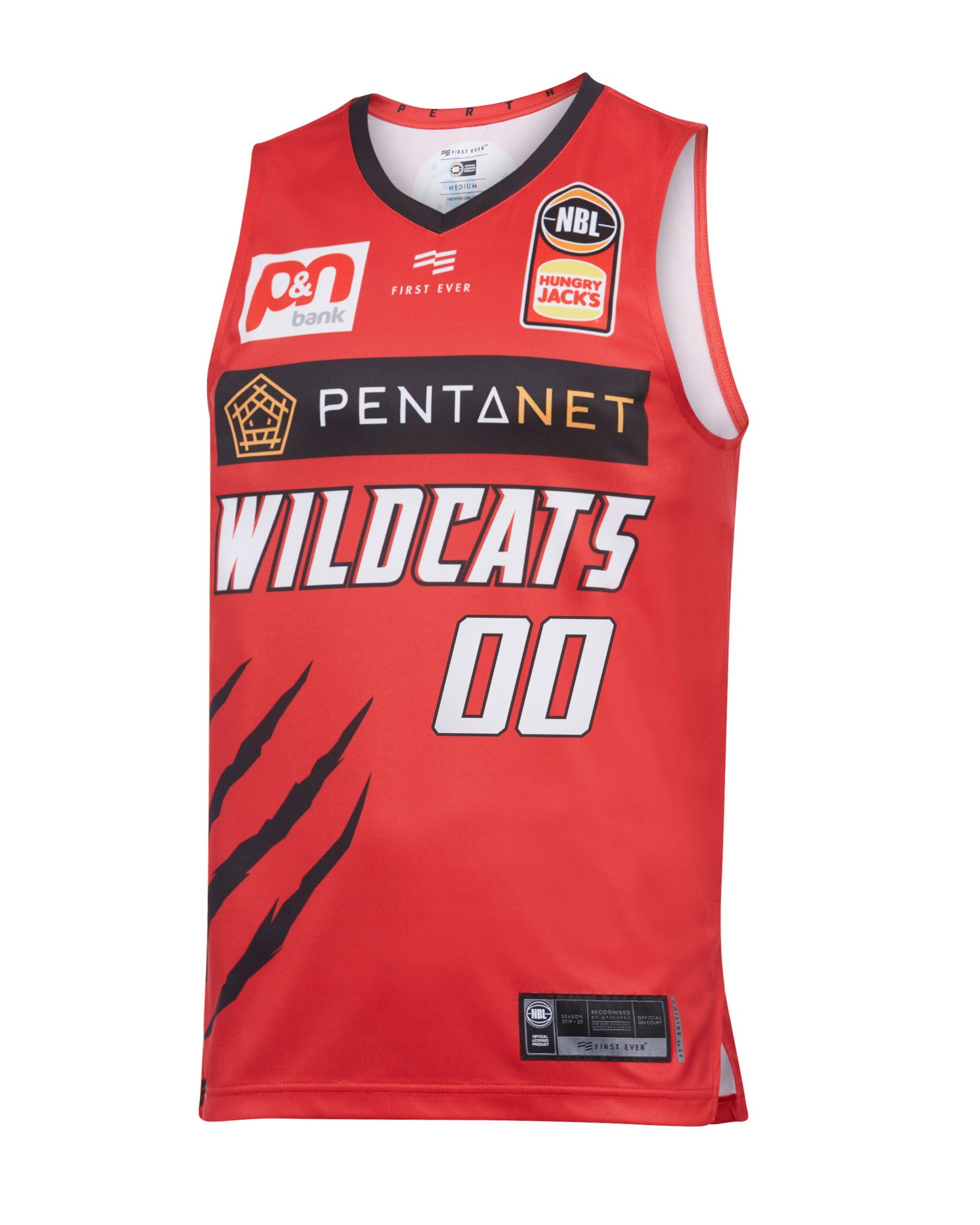 Personalised Perth Wildcats 19/20 Authentic Home Jersey
