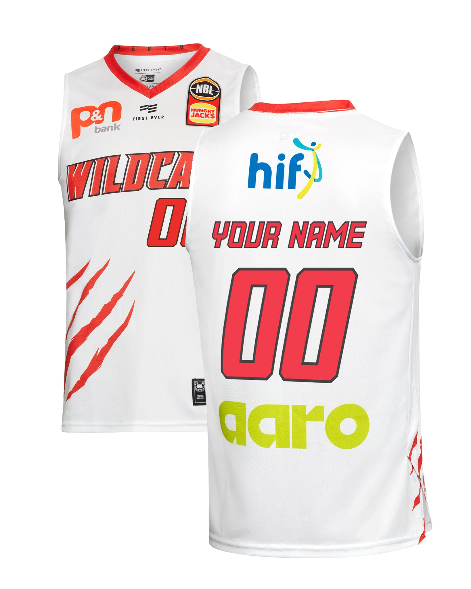 Personalised Perth Wildcats 19/20 Authentic Away Jersey