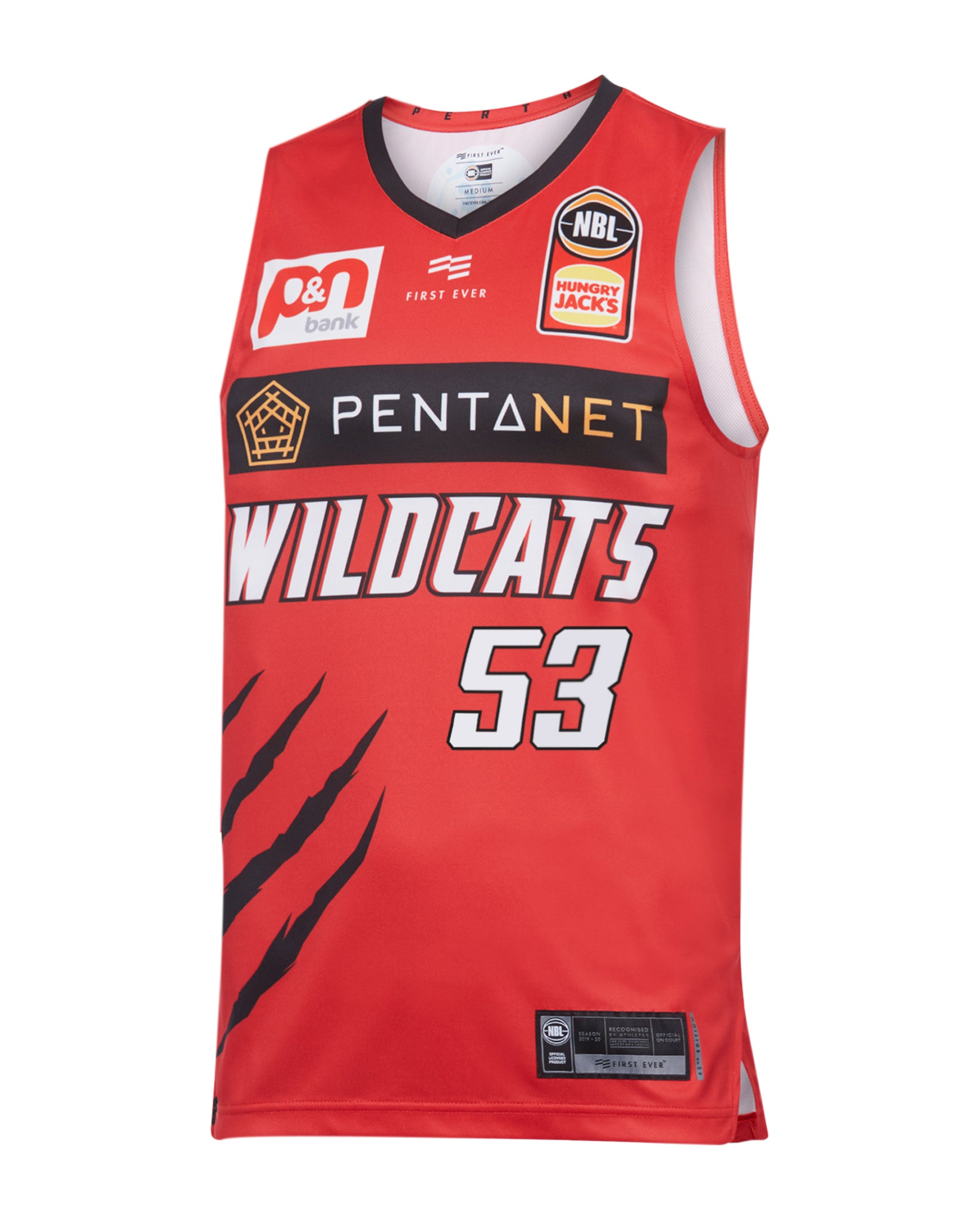 Perth Wildcats 19/20 Authentic Home Jersey - Damian Martin