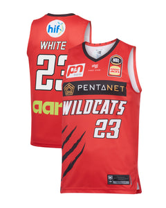 Perth Wildcats 19/20 Authentic Home Jersey - Terrico White