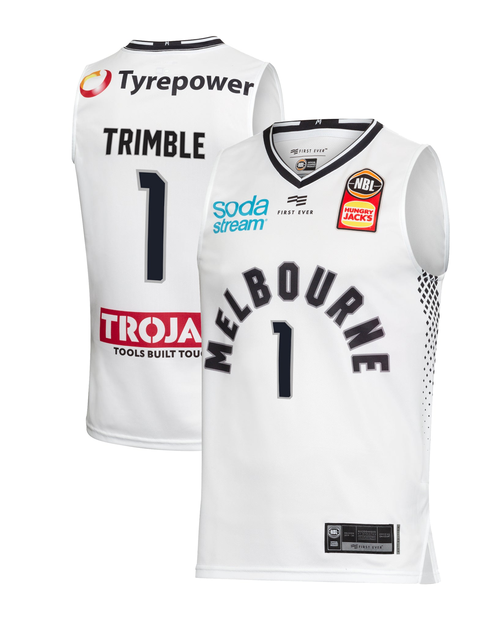 Melbourne United 19/20 Authentic Away Jersey - Melo Trimble