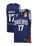 adelaide-36ers-19-20-authentic-home-jersey-eric-griffin - Front and Back Image