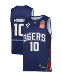 adelaide-36ers-19-20-authentic-home-jersey-ramone-moore - Front and Back Image
