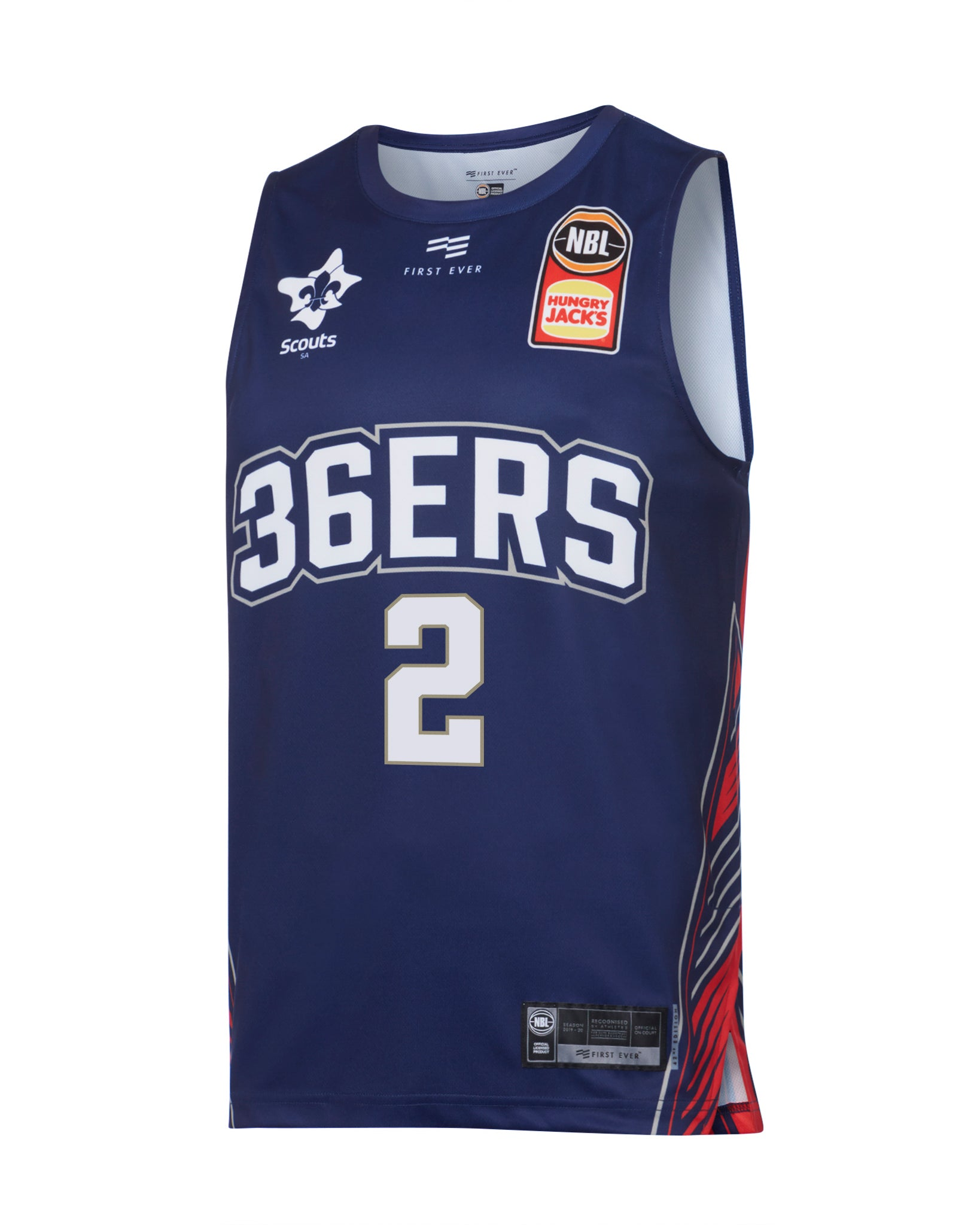 adelaide-36ers-19-20-authentic-home-jersey-deshon-taylor - Front Image