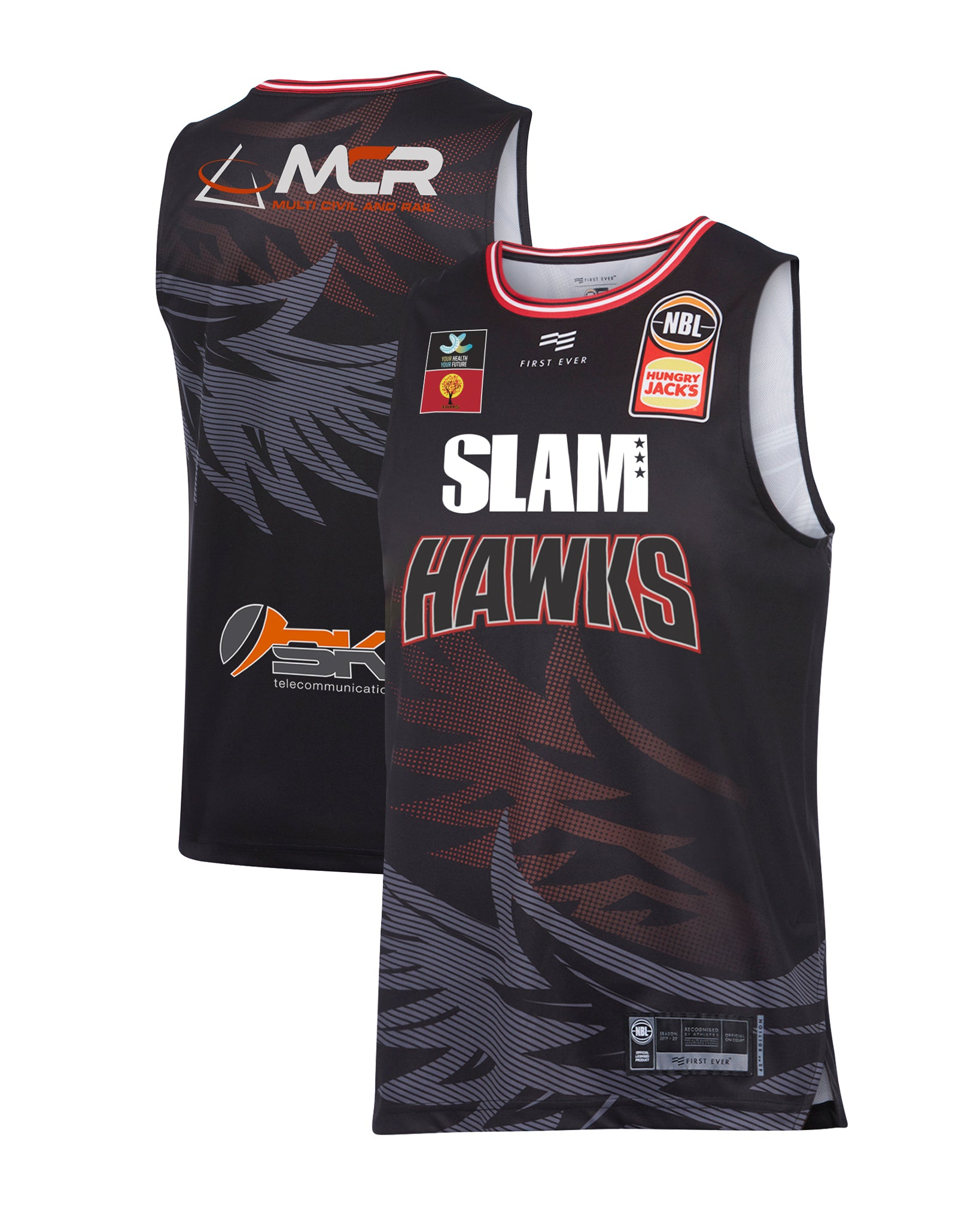 Illawarra Hawks 19/20 Authentic Home Jersey (with SLAM)
